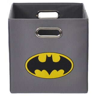 Batman Logo Grey Folding Storage Bin