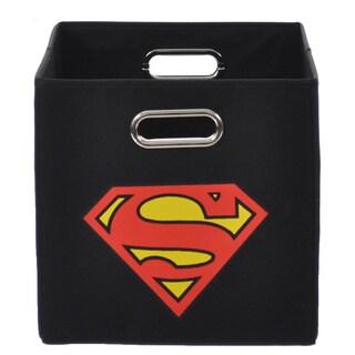 Superman Logo Black Folding Storage Bin