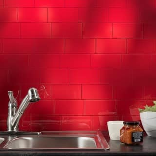 Red Glass Tile For Less Overstock Com