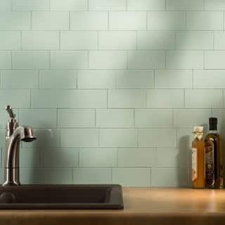 Blue Glass Tile Find Great Home Improvement Deals Shopping At - Green-glass-bathroom-tile