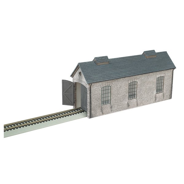Bachmann Trains Thomas and Friends Engine Shed Resin Building Scenery Item- HO Scale