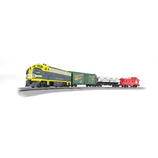 Bachmann Trains Thunder Chief - HO Scale Ready To Run Electric Train Set With Sound Value Equipped Locomotive