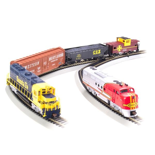 Bachmann Trains Digital Commander - HO Scale Ready To Run Electric Train Set With GP40 & FT Diesel Locomotives - Santa Fe