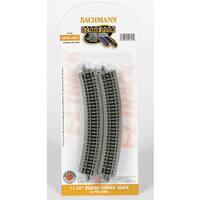 "Bachmann Trains 11.25"" Radius Curved Track (6/Card) - N Scale"