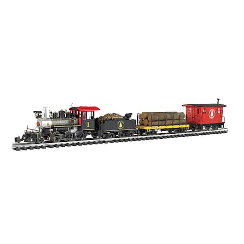 Bachmann Trains North Woods Logger - Large 'G' Scale Ready To Run Electric Train Set