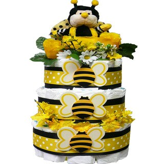 Bee My Baby Diaper Cake Gift Tower