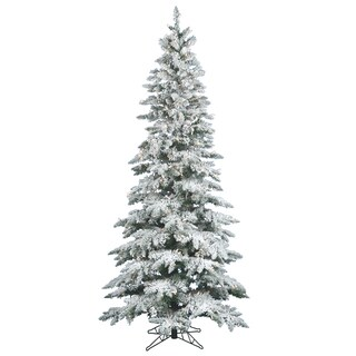 "6.5' x 39"" Flocked Utica Fir Tree with 300 Warm White Italian LED Lights"