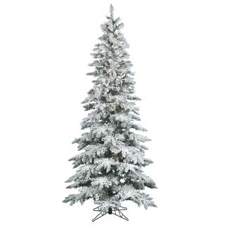 65 x 39 flocked utica fir tree with 300 warm white italian led lights - Best Christmas Tree Deals