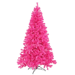 """7' x 48"""" Hot Pink Tree with 500 Pink Mini Lights"""