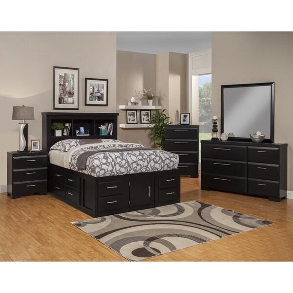 Sandberg Furniture Serenity Black Bedroom Set