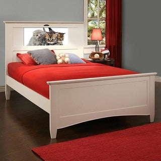 LightHeaded Beds White Canterbury Full Bed by Lifetime
