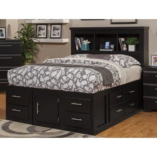 sandberg furniture serenity ultimate twelve drawer storage bed - King Size Storage Bed Frame