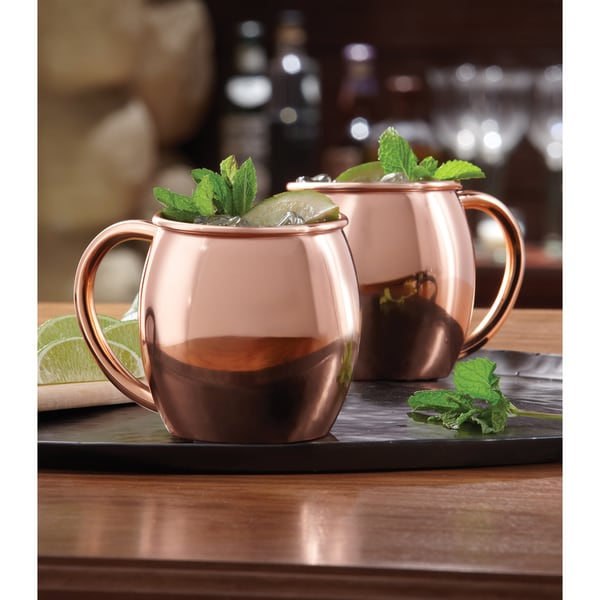 Sharper Image Copper Plated Moscow Mule Mugs