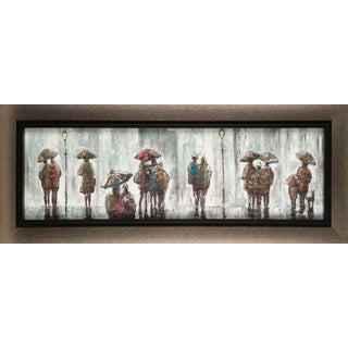 Hobbitholeco. Anastasia C. 'Rainy Day' 15 x 35-inch Canvas Wall Art