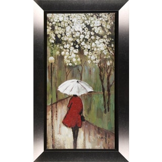 Hobbitholeco. 'Walk In The Park' 23 x 39-inch Framed Canvas Wall Art