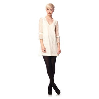 French Connection T-Gigliolia Moments Ivory Lace Tunic Dress