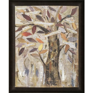 Hobbitholeco. 'Wise Tree I' 26 x 32-inch Framed Oil Wall Art