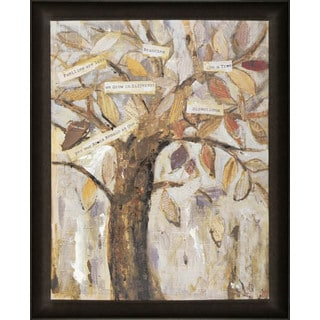Hobbitholeco. 'Wise Tree III' 26 x 32-inch Framed Canvas Wall Art