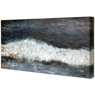 Hobbitholeco. 'Shoreline' 20 x 40-inch Oil Painting Painting Wall Art