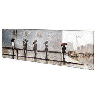 Wait For A Cab II 20-inch x 60-inch Oil Painting Wall Art
