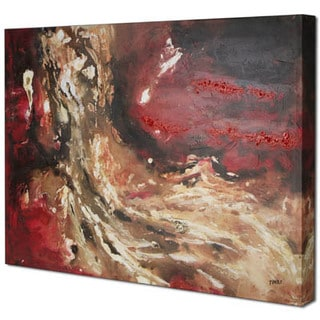 Red Abstract I 30-inch x 40-inch Oil Painting Wall Art