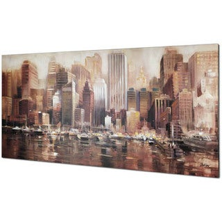 Hobbitholeco. 'Watercity' 30 x 60-inch Oil Wall Art