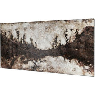 Hobbitholeco. 'Brown Landscape' 30 x 60-inch Oil Wall Art