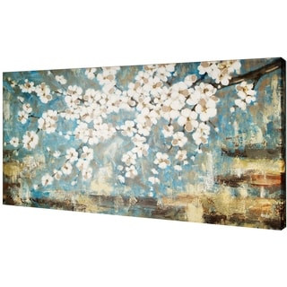 Blue Blossom 30-inch x 60-inch Oil Wall Art