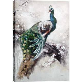 Peacock 31.5-inch x 47.25-inch Oil Wall Art