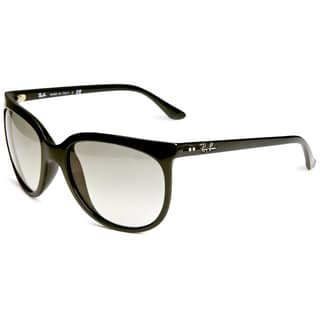 Ray Ban RB4126 Cats 1000 Sunglasses - 601/32 Glossy Black (Crystal Gray Gradient Lens) - 57MM