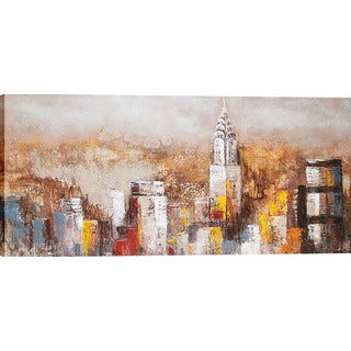 Autumn New York Skyline Oil Painting Wall Art