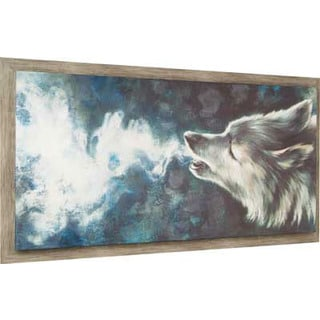 Hobbitholeco. 'Wolf' 28 x 52-inch Framed Print Wall Art
