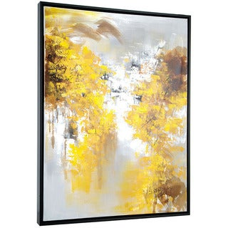 Yellow Trees 32-inch x 42-inch Framed Oil Wall Art