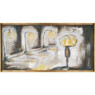 Umbrella Light 28-inch x 54-inch Framed Oil Wall Art