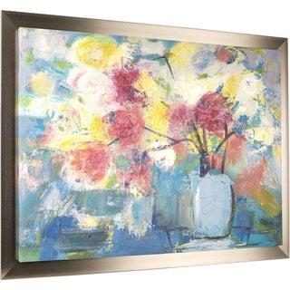Floral Pot 42-inch x 54-inch Framed Oil Wall Art