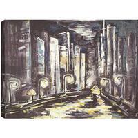 ArtMaison Canada. 'Drive In The City' 36 x 48-inch Oil Wall Art
