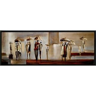 City Walk 21-inch x 61-inch Framed Oil Wall Art