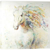 Colorful Horse 47-inch x 47-inch Oil Wall Art
