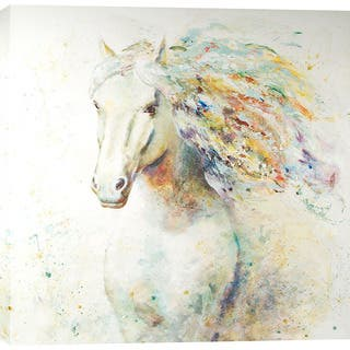 Colorful Horse 47-inch x 47-inch Giclee Print Wall Art