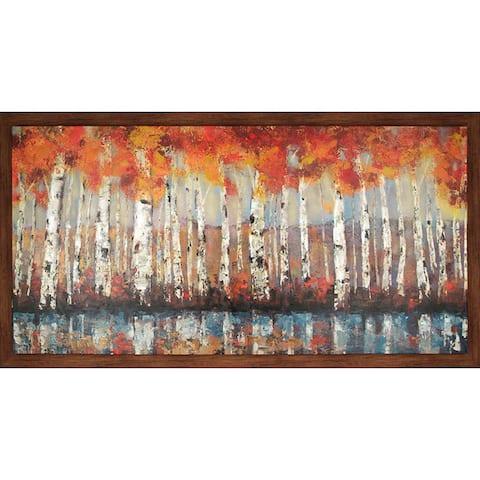 Hobbitholeco. 'Forest In Orange' 36 x 66-inch Framed Oil Wall Art