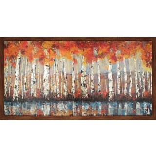 Hobbitholeco. 'Forest In Orange' 36 x 66-inch Framed Oil Wall Art