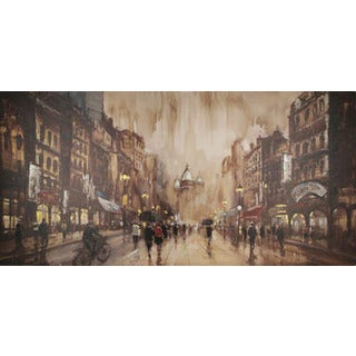 Classic Times Cityscape Oil Wall Art