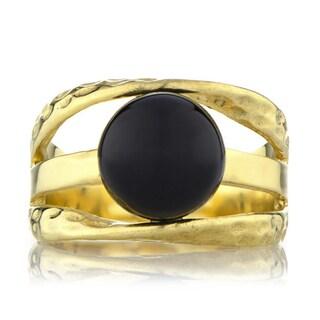 Brass Based Three Band Goldtone Ring