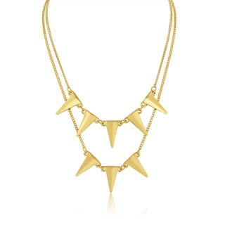 Adoriana Yellow Gold Double Strand Spike Necklace