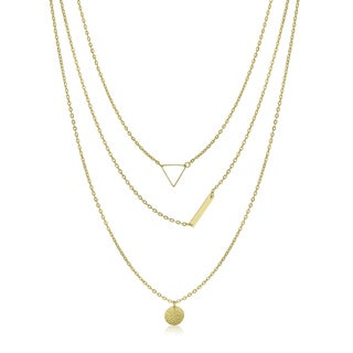 Adoriana Yellow Gold Triple Strand Necklace