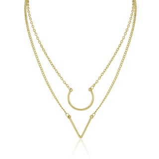 Adoriana Yellow Gold Double Strand Necklace