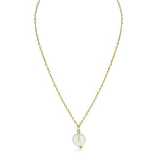 Adoriana Yellow Pearl Solitaire Necklace