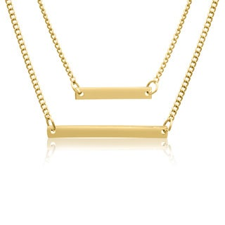 Adoriana Yellow Double Bar Necklace