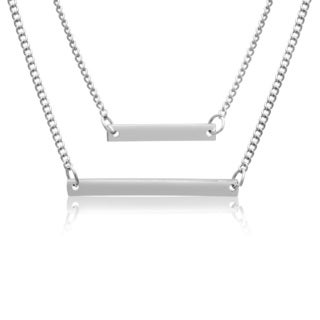 Adoriana White Double Bar Necklace