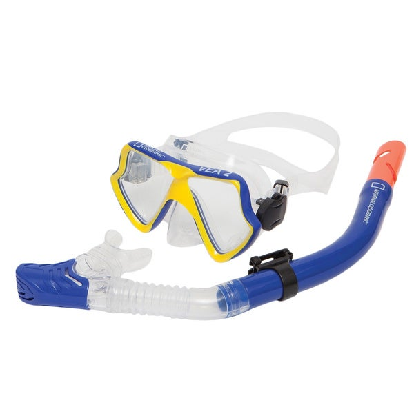 National Geographic VEA2 Combo Mask and VIVA 2 Snorkel Blue/Yellow